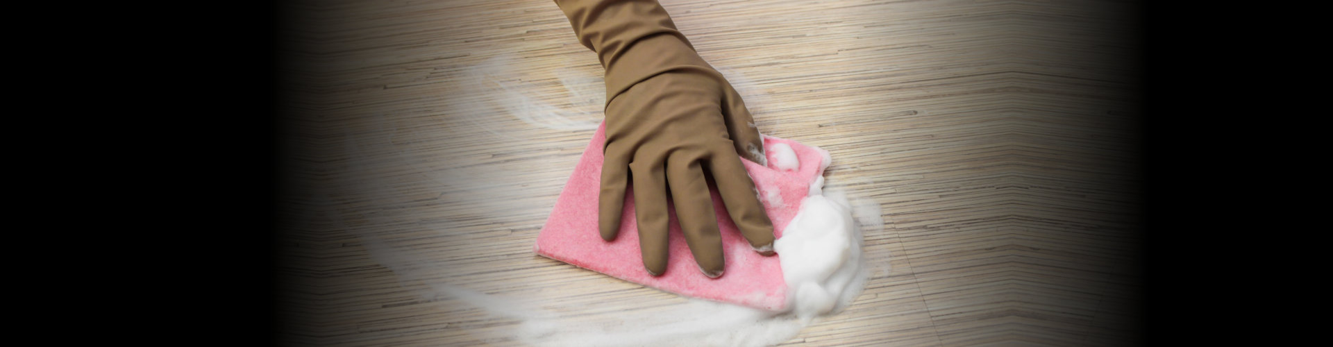 hand with a cleaner